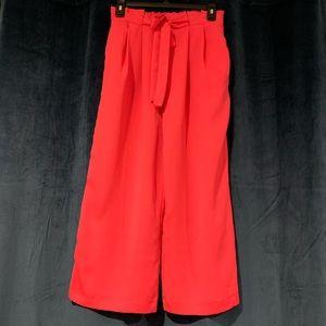 Zara High Waist Wide Leg Culottes